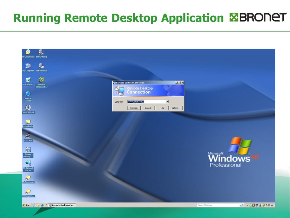 Running Remote Desktop Application