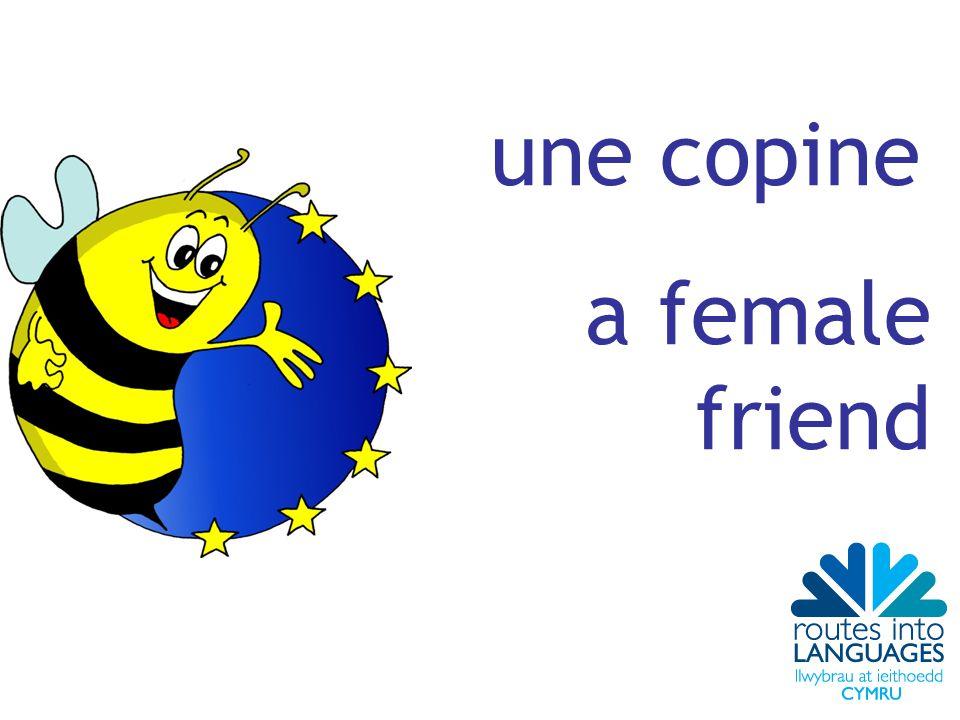 une copine a female friend