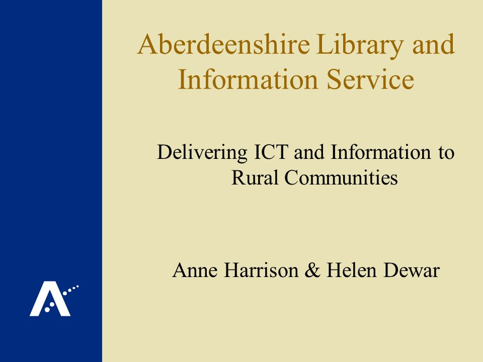 Community access to lifelong learning(CALL) Tutor Project Aberdeenshire Library and Information Service (ALIS)