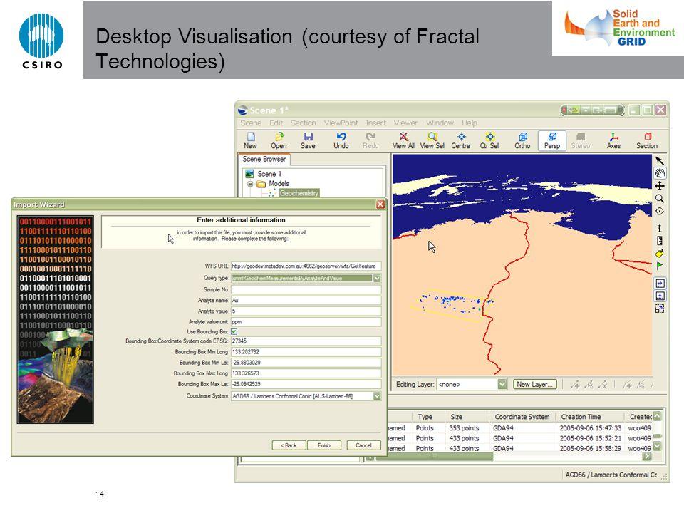 14 Desktop Visualisation (courtesy of Fractal Technologies)