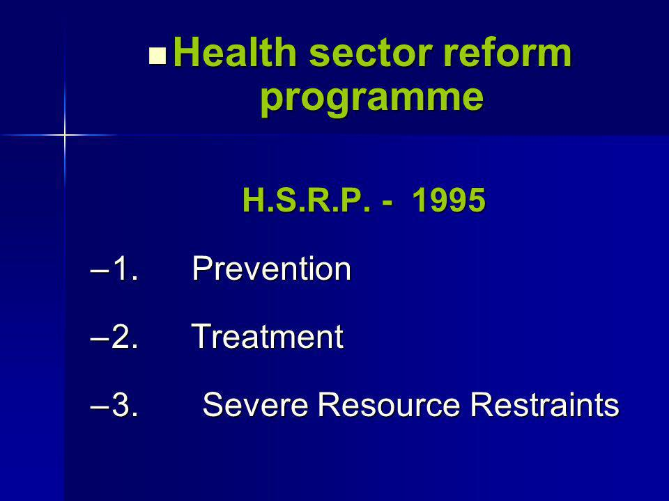 Health sector reform programme Health sector reform programme H.S.R.P.