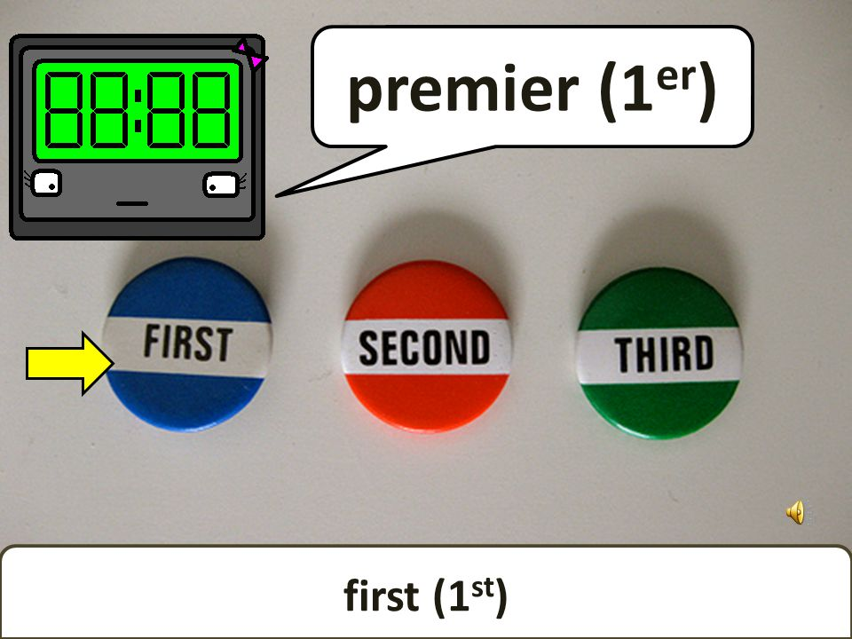 Ordinal numbers show you which order things are in. (Just in case you didnt know.)