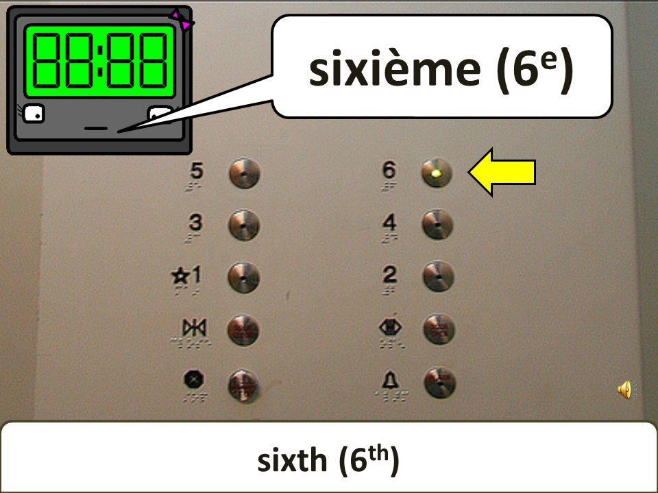 fifth (5 th ) cinquième (5 e )