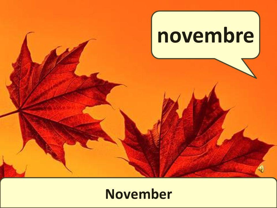 October octobre