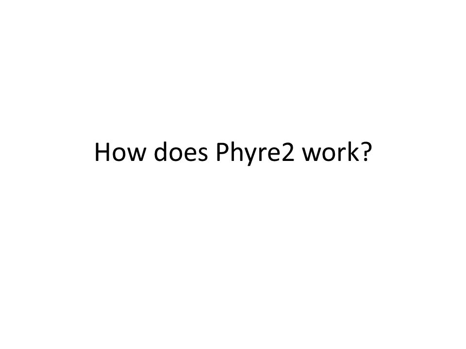 How does Phyre2 work?