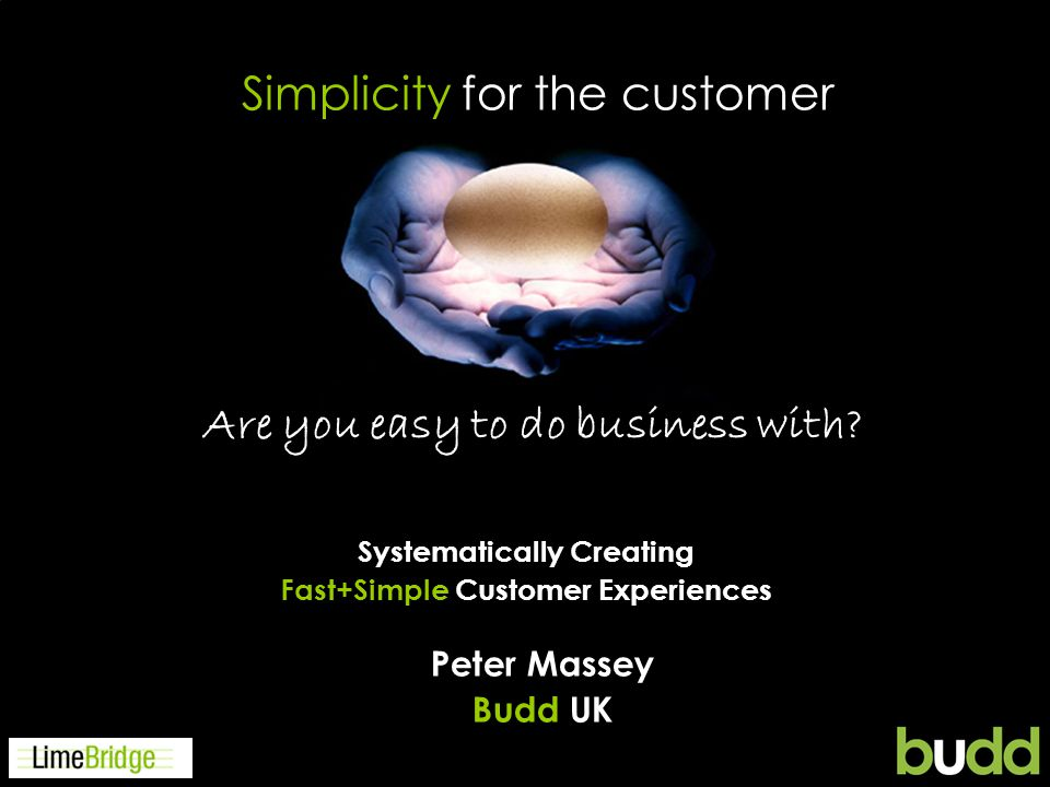 Agenda 1.Introduction 2.Its about people 3.What do customers want.