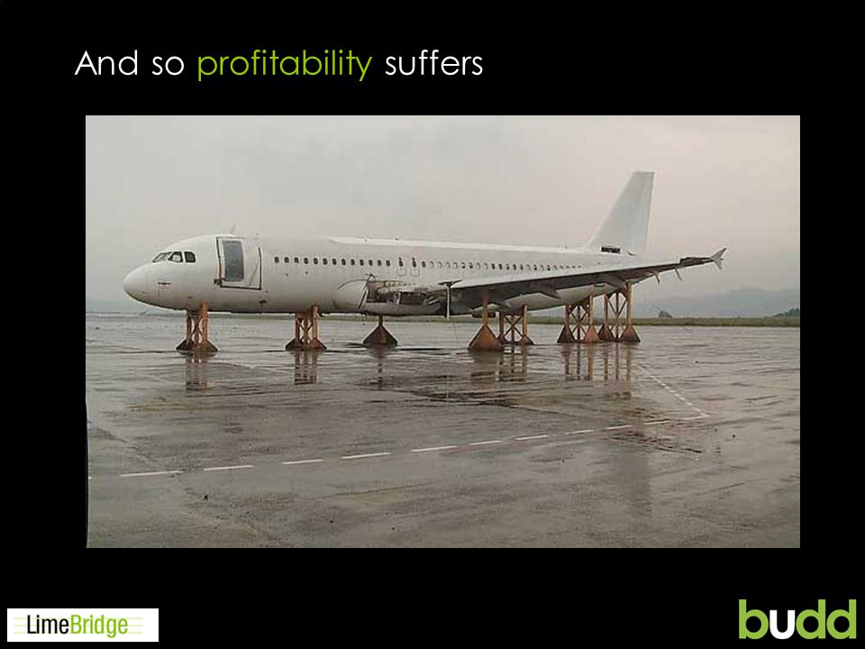 And so profitability suffers