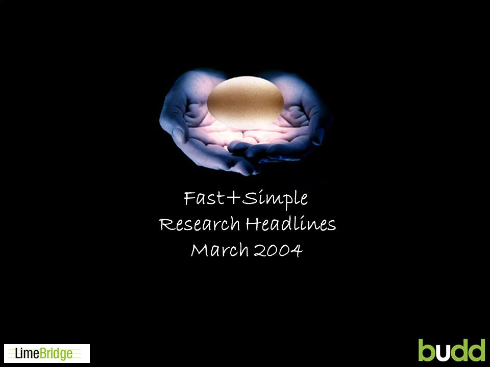 CS Solutions Fast+Simple Research Headlines March 2004