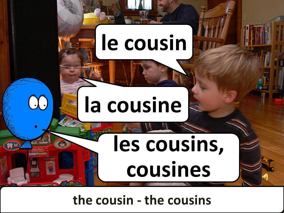 the cousin - the cousins les cousins, cousines la cousine le cousin the cousin - the cousins