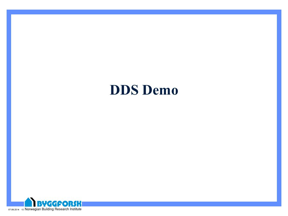 07.06.2014 13 DDS Demo