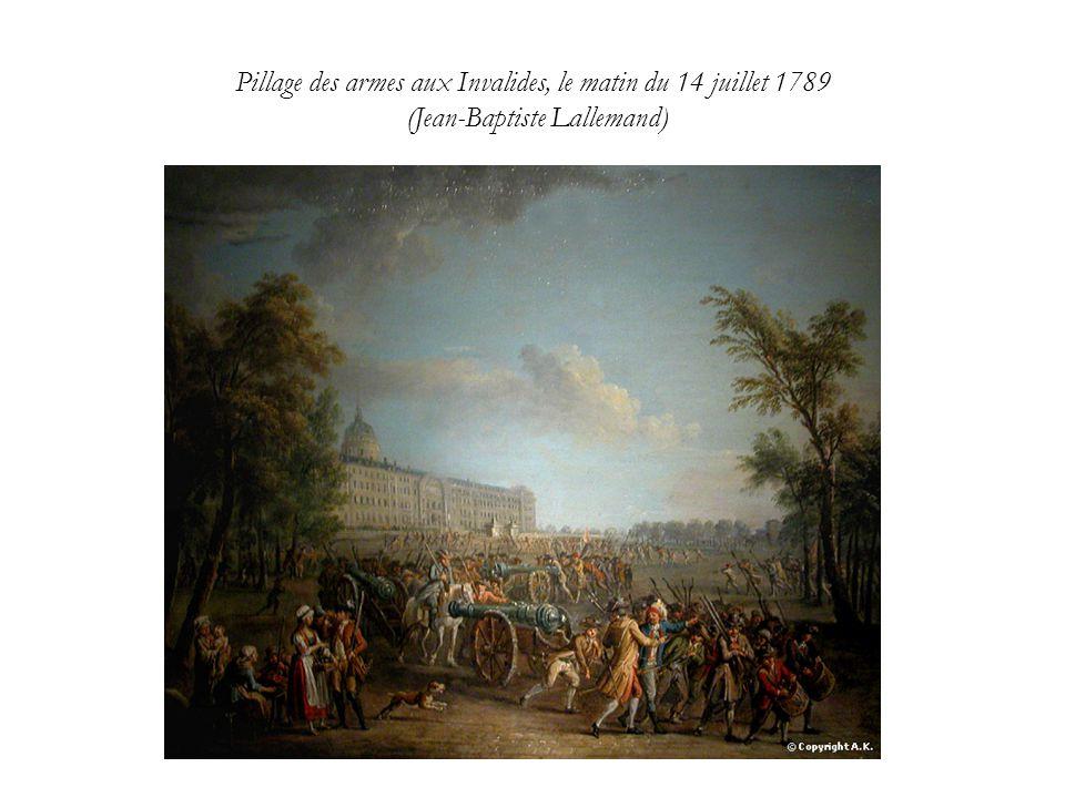 Pillage des armes aux Invalides, le matin du 14 juillet 1789 (Jean-Baptiste Lallemand)