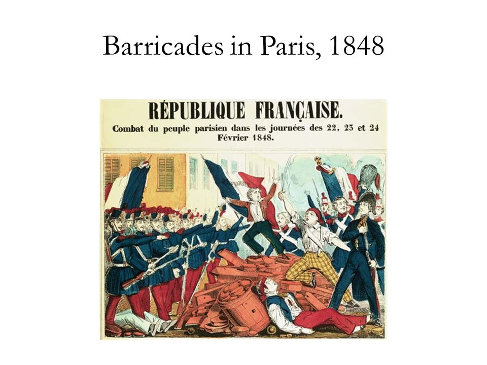 Barricades in Paris, 1848