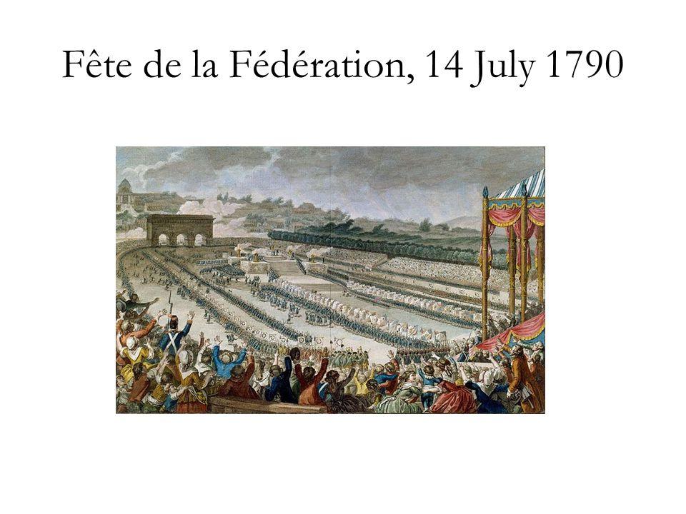Fête de la Fédération, 14 July 1790