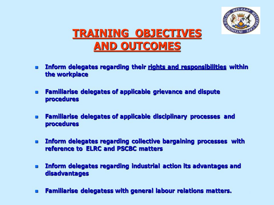 DIRECTORATE: LABOUR RELATIONS - KNOW YOUR RIGHTS WORKSHOP 15