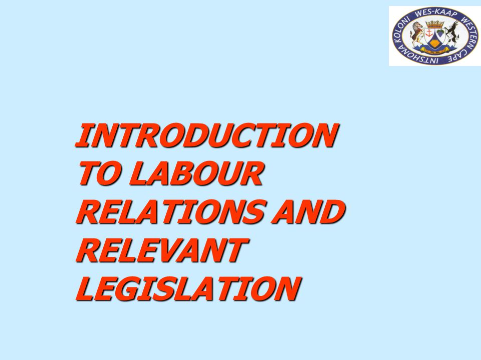 DIRECTORATE: LABOUR RELATIONS - KNOW YOUR RIGHTS WORKSHOP 6 EXERCISE 1