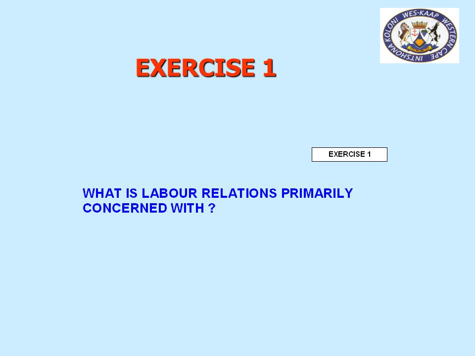 DIRECTORATE: LABOUR RELATIONS -