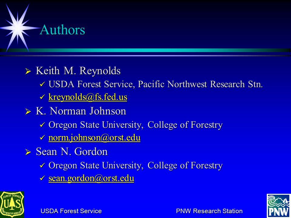 USDA Forest Service PNW Research Station USDA Forest Service PNW Research Station Authors Keith M.