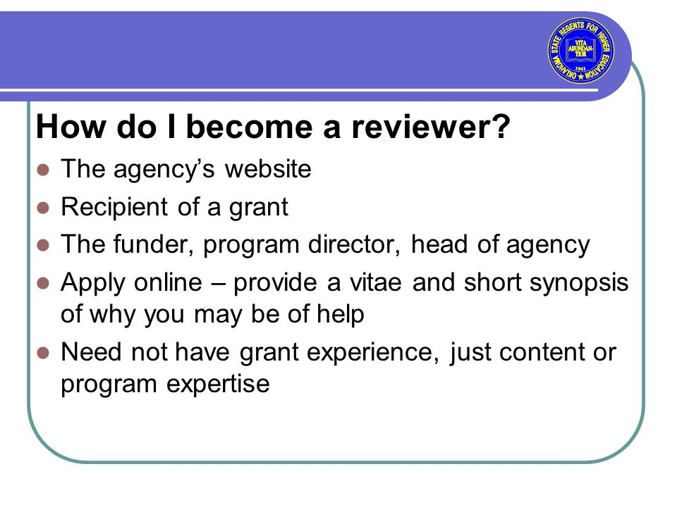 How do I become a reviewer.