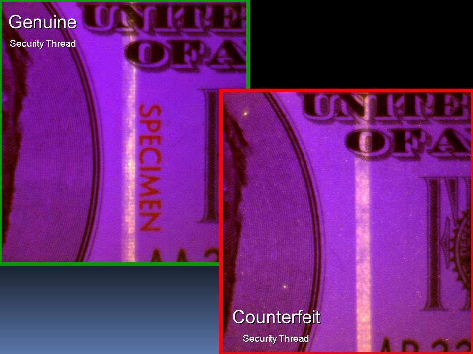 15 Genuine Security Thread Counterfeit
