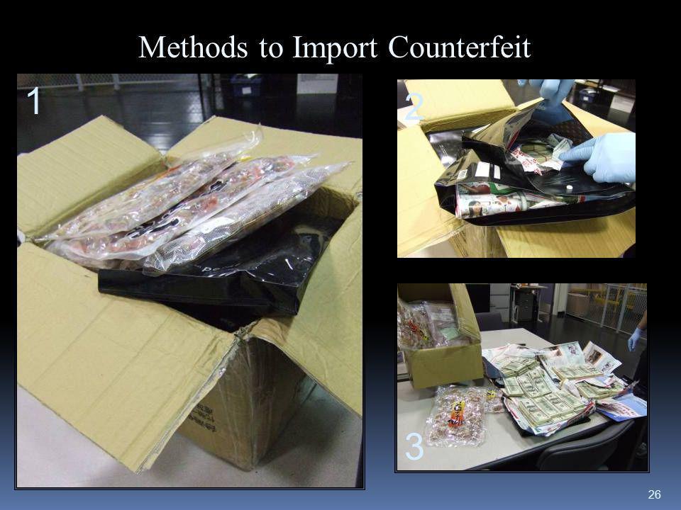 26 Methods to Import Counterfeit 1 2 3