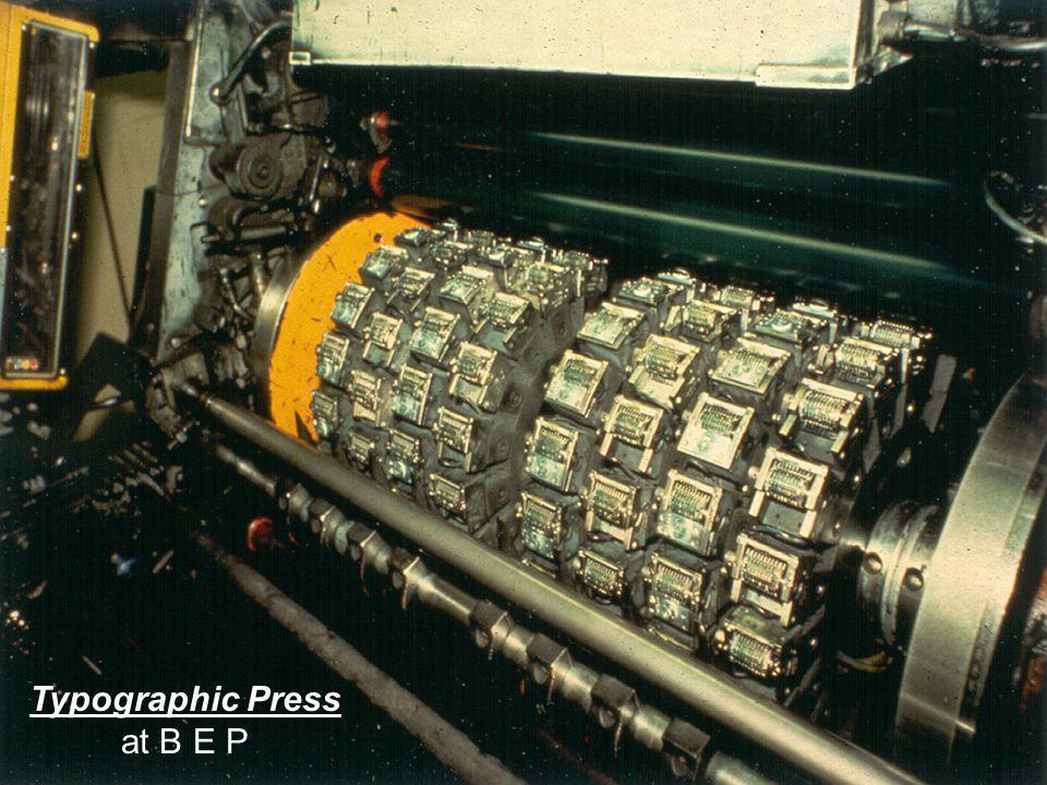 6 Typographic Press at B E P