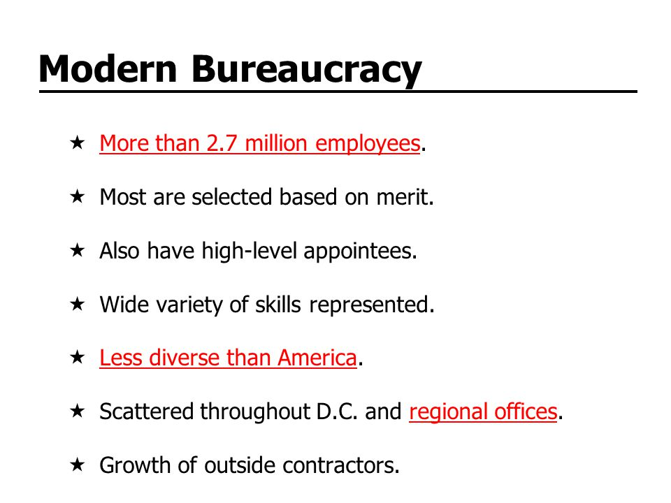 Formal Organization Cabinet departments handle broad, lasting issues.