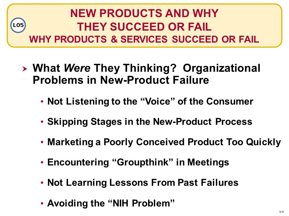 Not Listening to the Voice of the Consumer Skipping Stages in the New-Product Process What Were They Thinking? Organizational Problems in New-Product