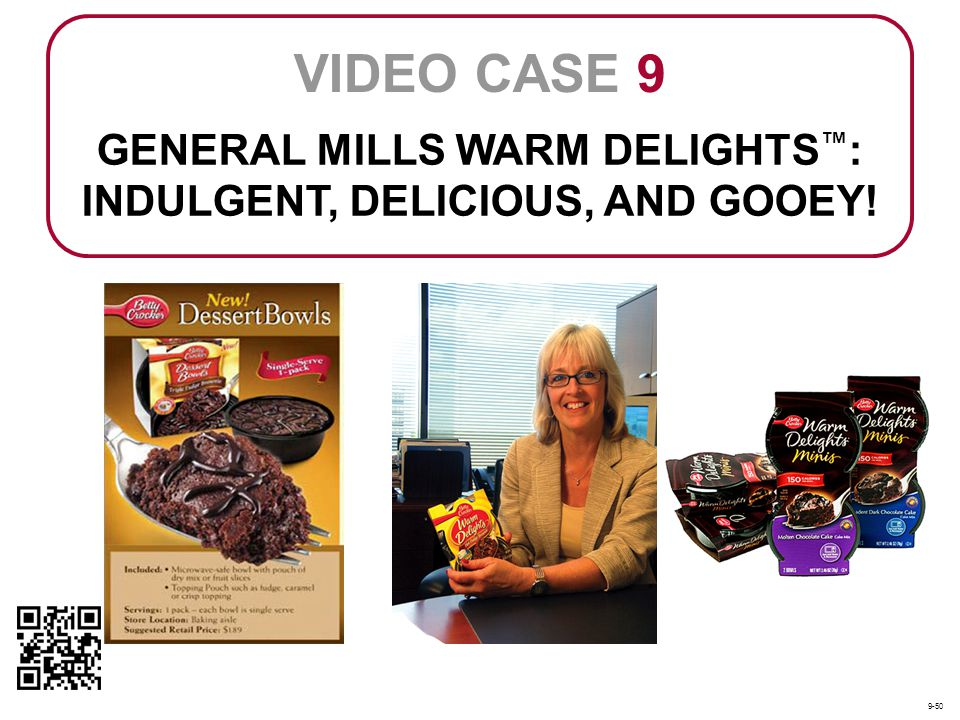 GENERAL MILLS WARM DELIGHTS : INDULGENT, DELICIOUS, AND GOOEY! VIDEO CASE 9 9-50