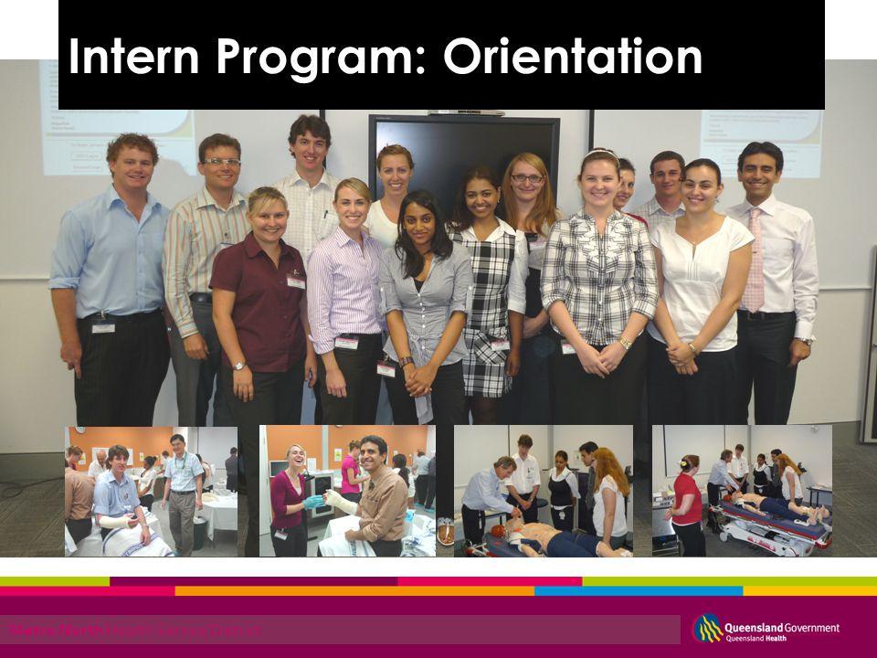 Metro North Health Service District Intern Program: Orientation
