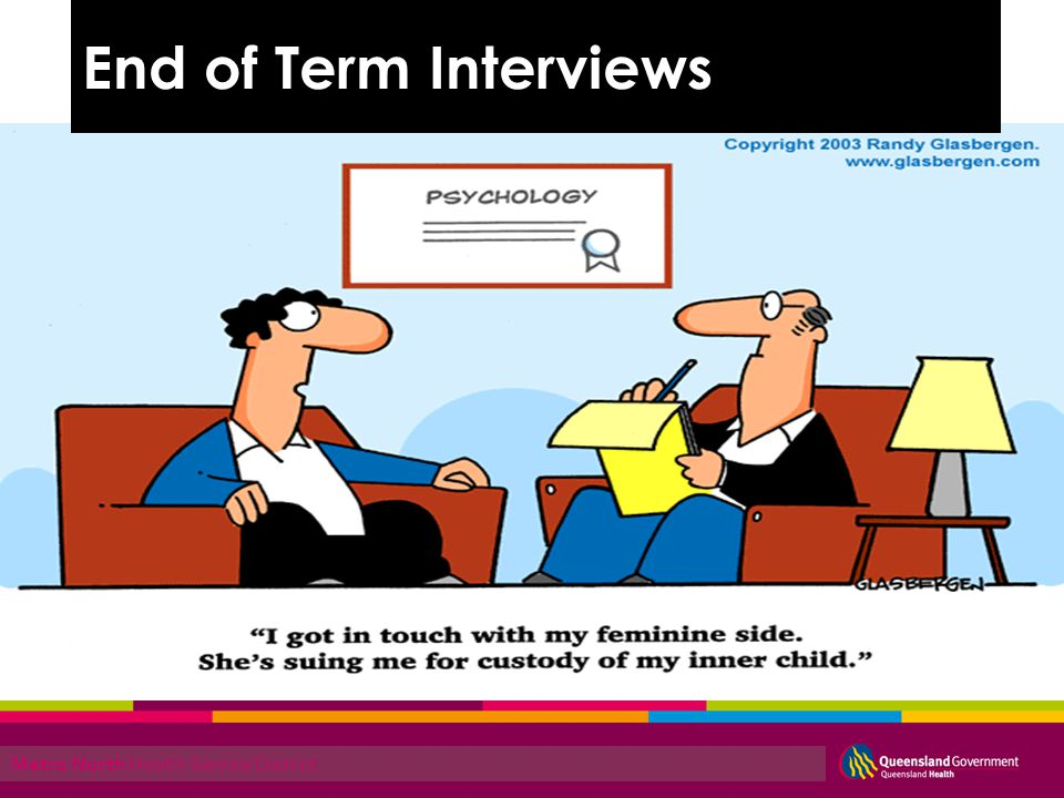 Metro North Health Service District End of Term Interview process End of Term Interviews