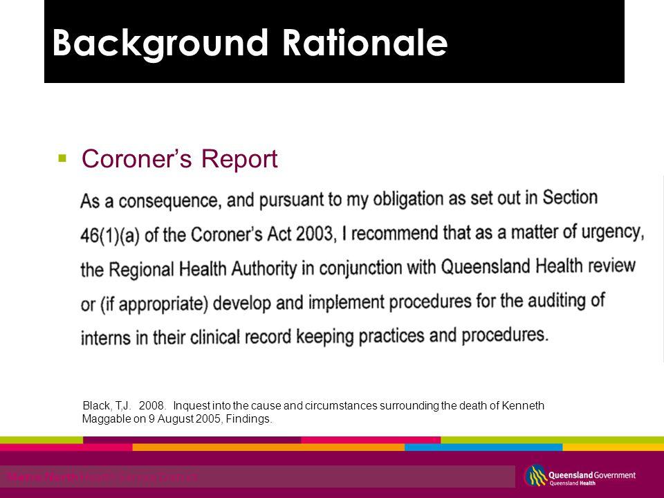 Metro North Health Service District Coroners Report Black, T,J.