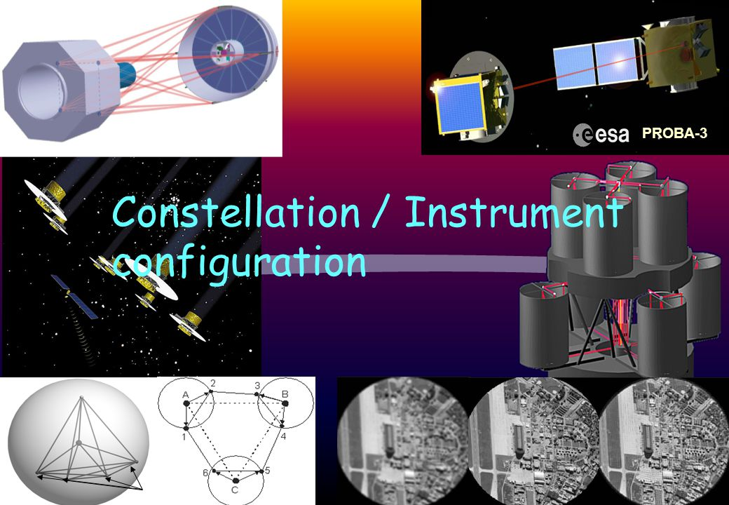 Constellation / Instrument configuration PROBA-3