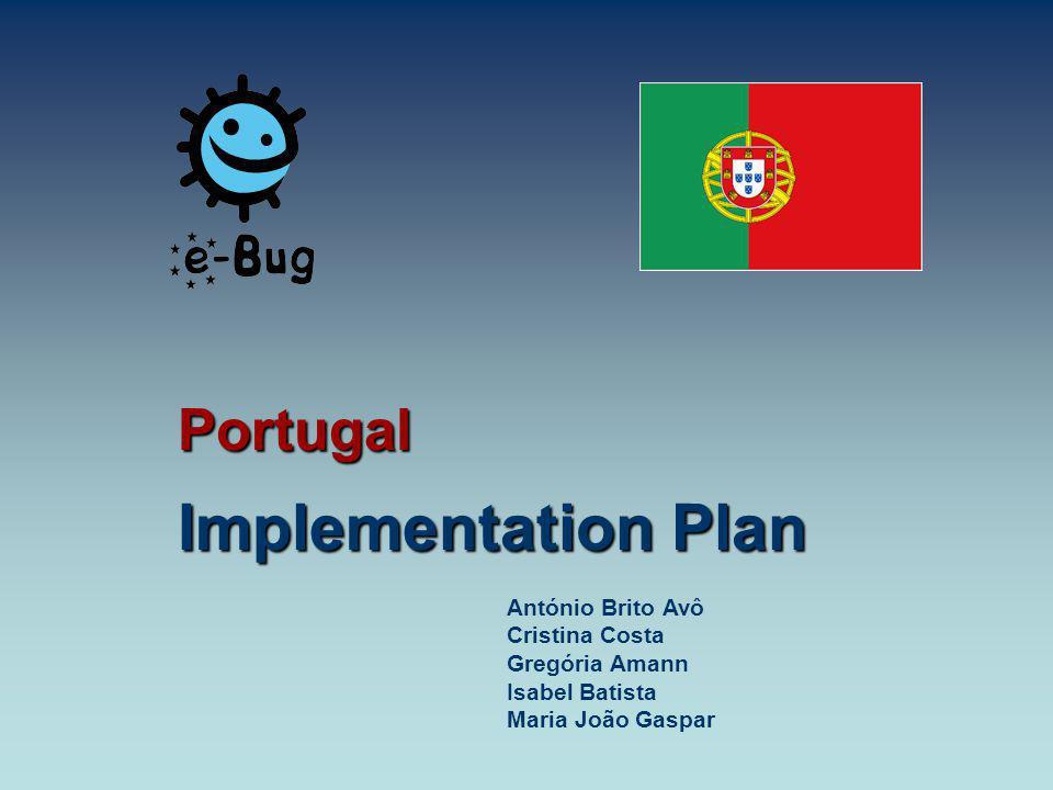 Portugal Implementation Plan António Brito Avô Cristina Costa Gregória Amann Isabel Batista Maria João Gaspar