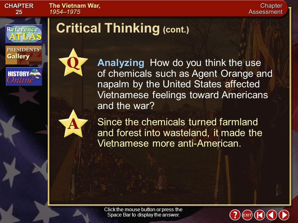 Chapter Assessment 9 Click the mouse button or press the Space Bar to display the answer. Critical Thinking Analyzing Themes: Civic Rights and Respons