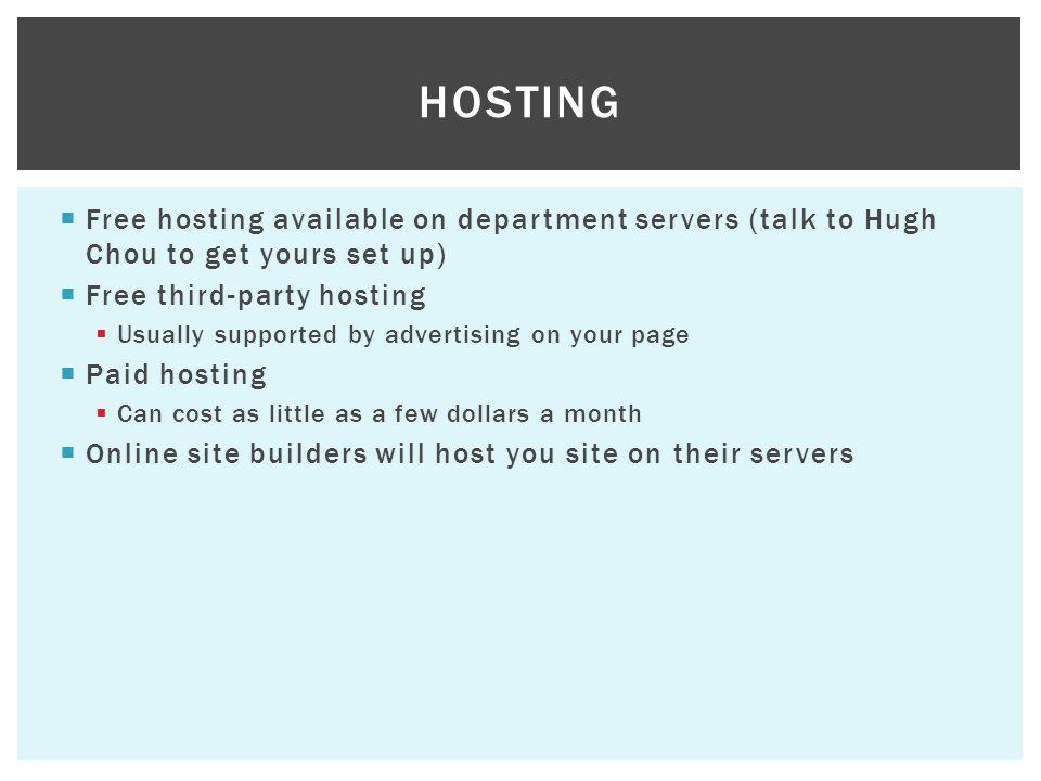 Free service URLs Pros: Free.