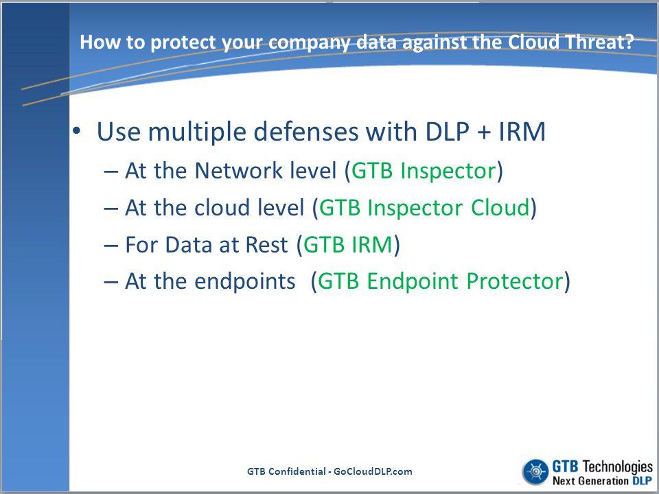 GTB Confidential - GoCloudDLP.com GoCloudDLP Architecture As a Service
