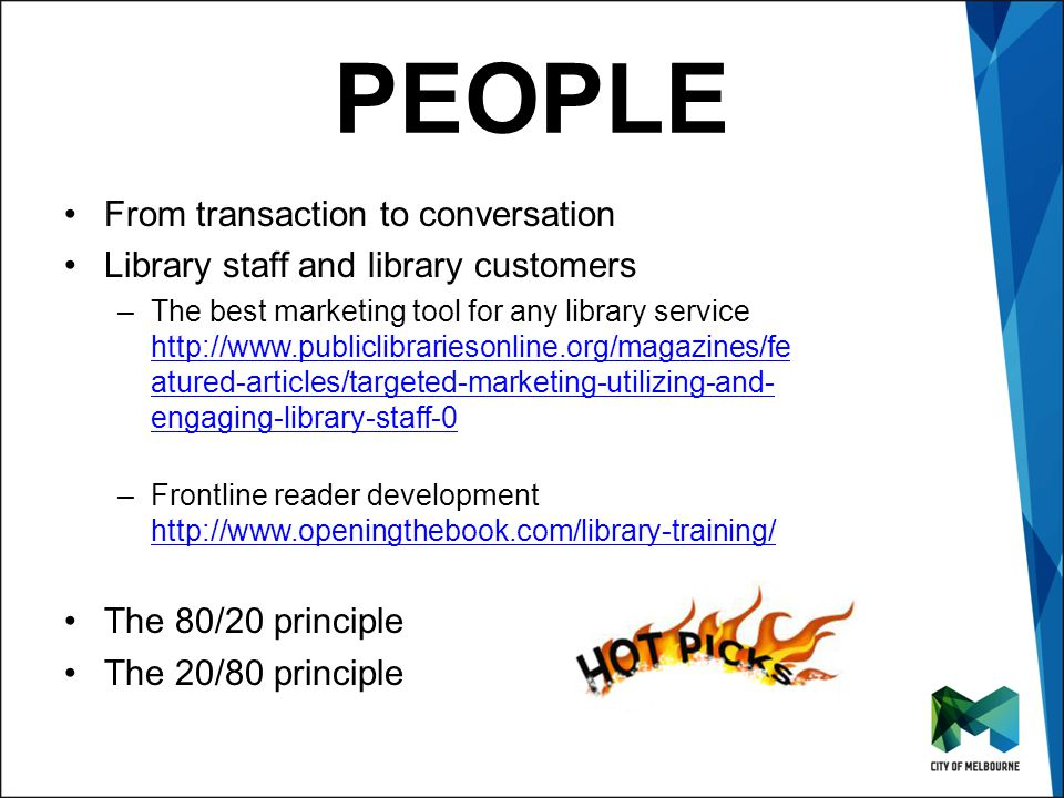 Click to edit Master title style Click to edit Master subtitle style PEOPLE From transaction to conversation Library staff and library customers –The