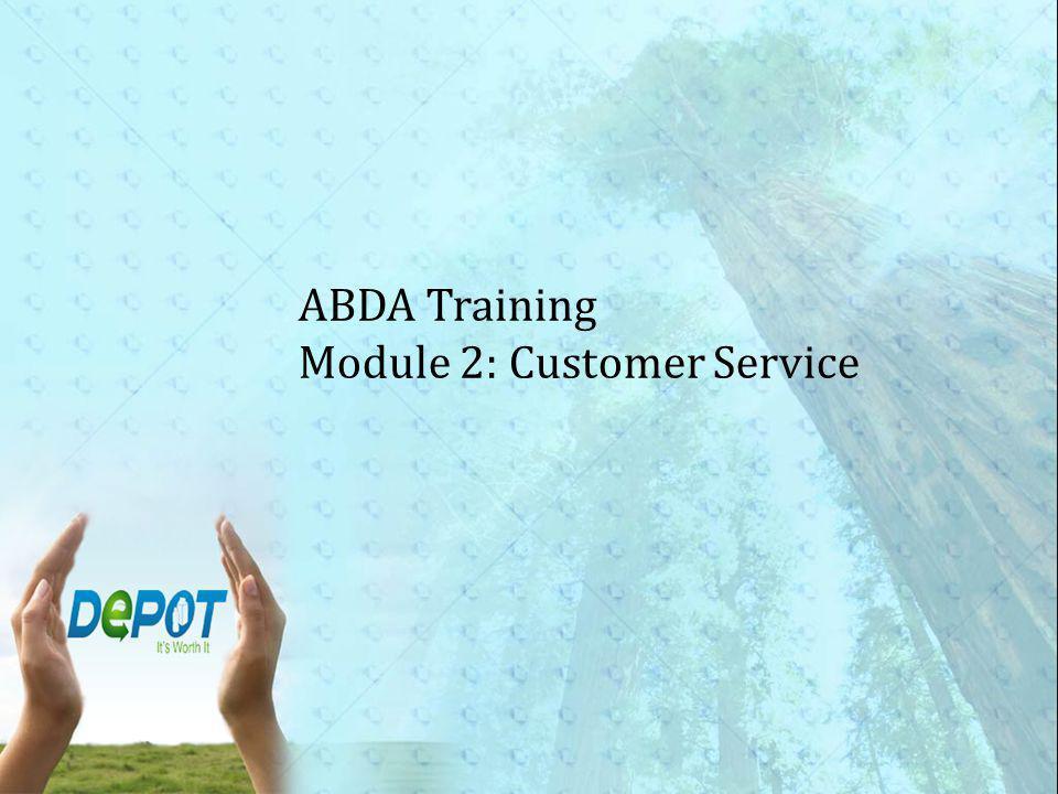 ABDA Training Module 2: Customer Service