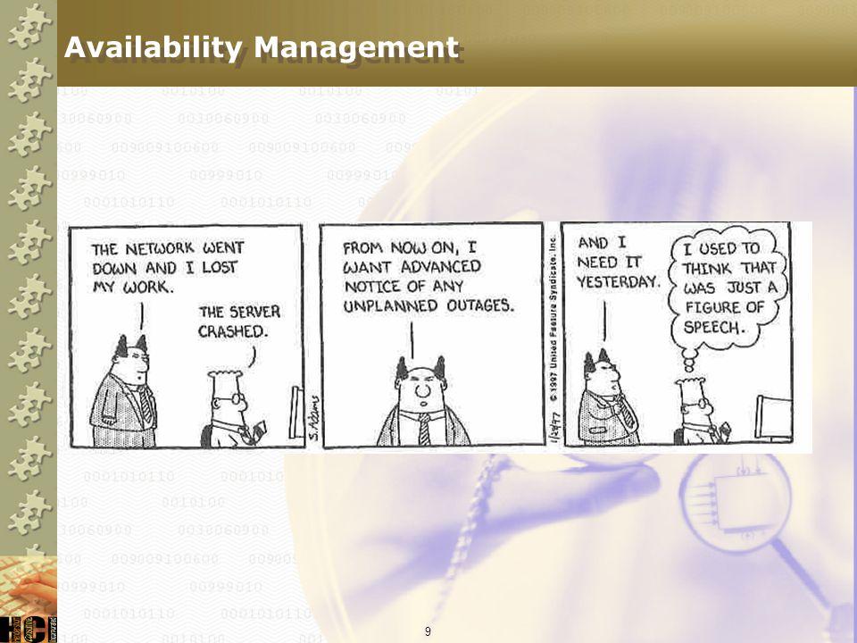 9 Availability Management