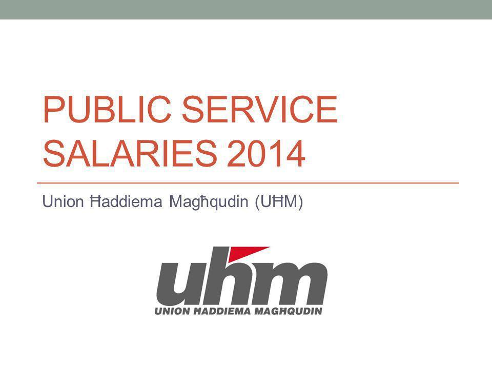 PUBLIC SERVICE SALARIES 2014 Union Ħaddiema Magħqudin (UĦM)