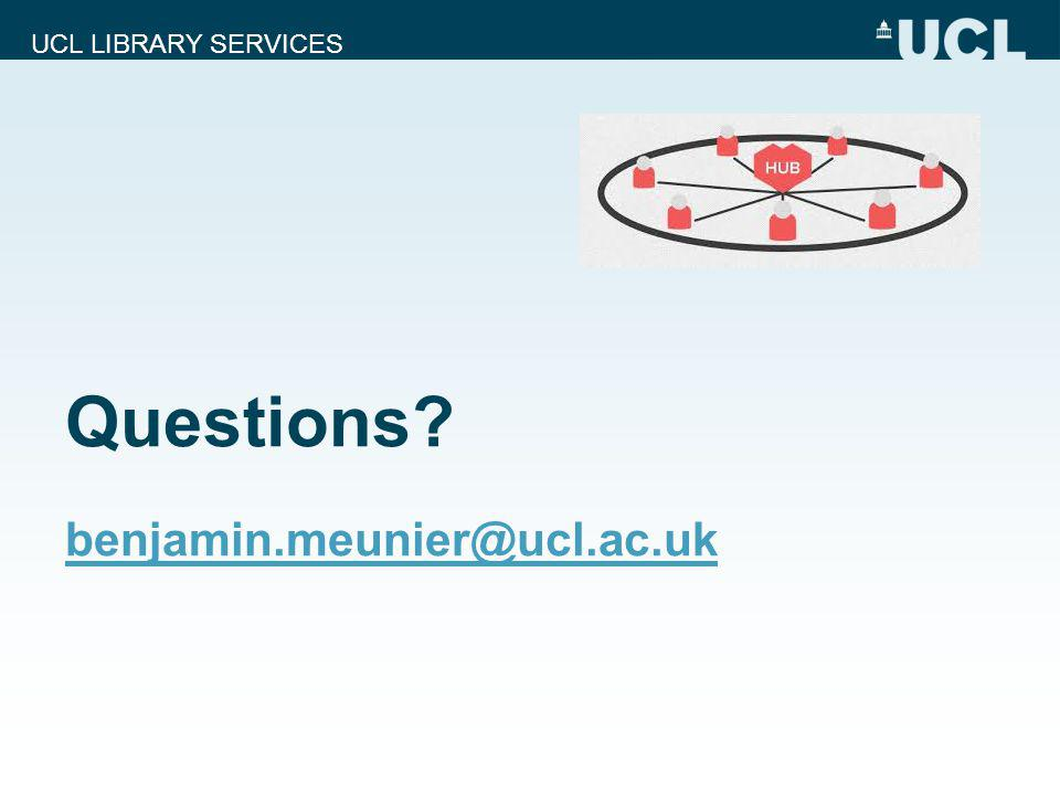 UCL LIBRARY SERVICES Questions