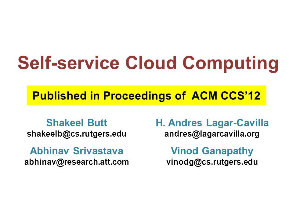 Hypervisor Clients VM Management VM Code Data Checking daemon Sec.