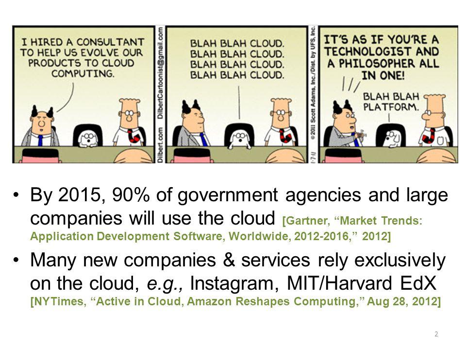 Hardware Hypervisor Management VM Clients VMs 13 Traditional cloud computing