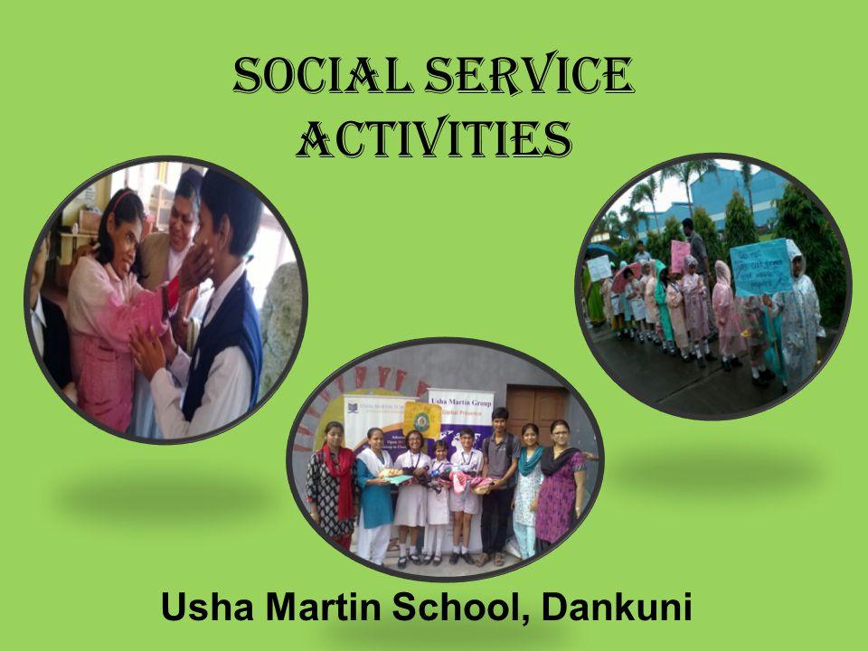 Social service activities Usha Martin School, Dankuni