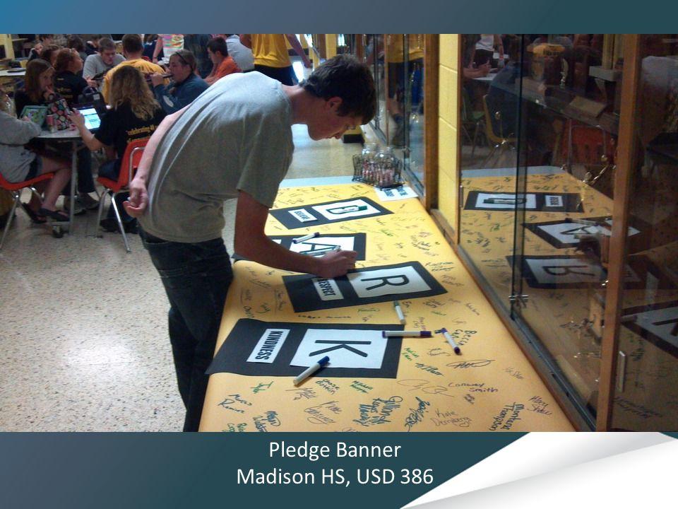 Pledge Banner Madison HS, USD 386