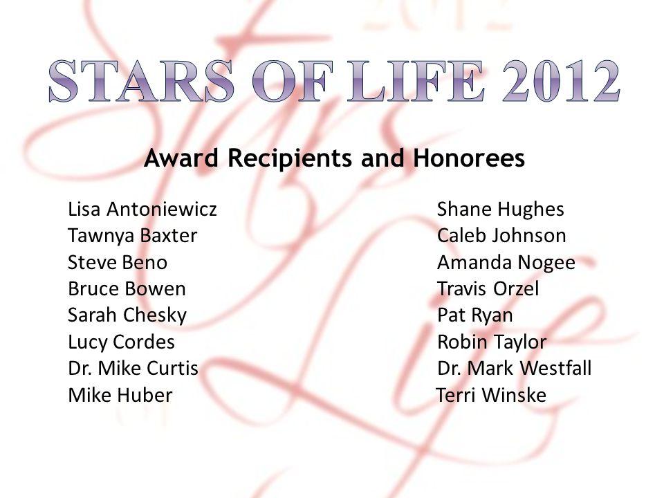 Award Recipients and Honorees Lisa Antoniewicz Shane Hughes Tawnya Baxter Caleb Johnson Steve Beno Amanda Nogee Bruce Bowen Travis Orzel Sarah Chesky