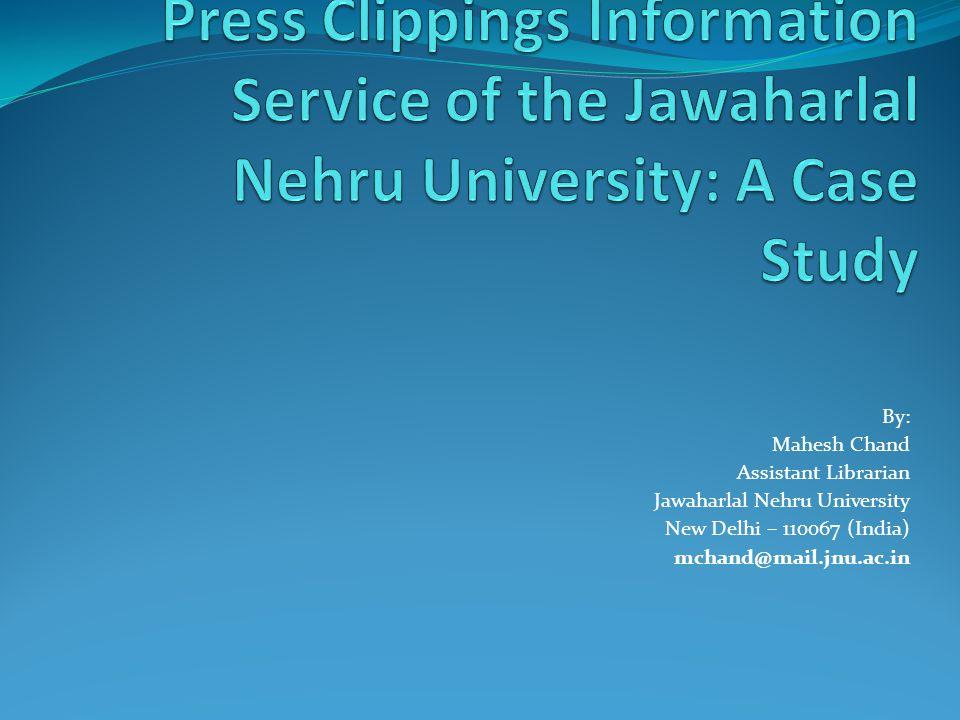 The Jawaharlal Nehru University Library