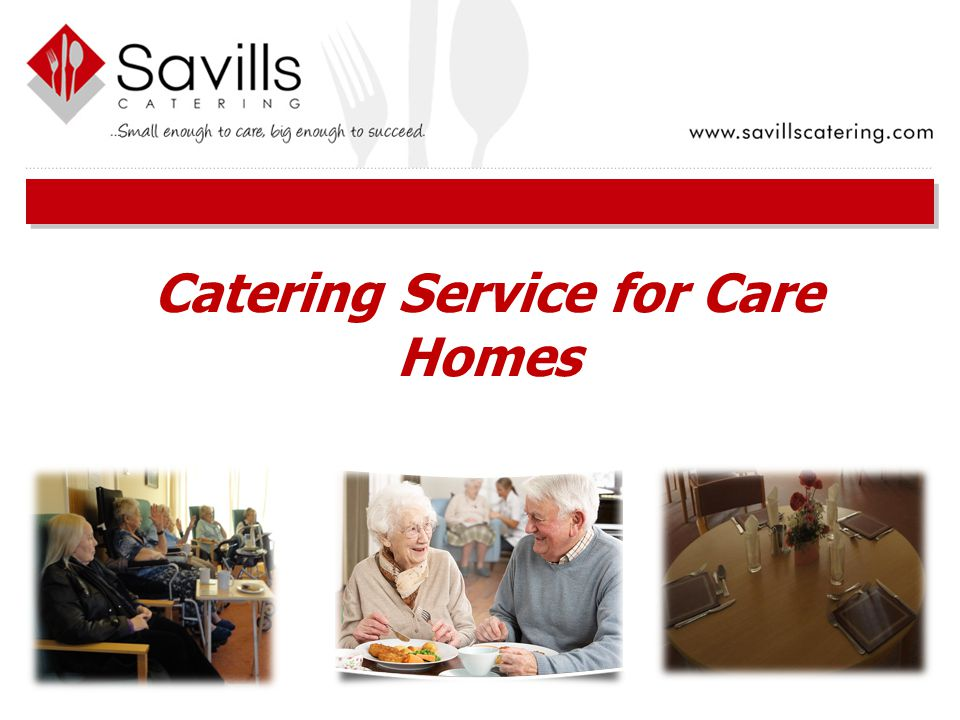 Catering Service for Care Homes