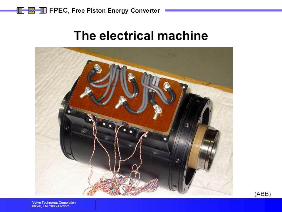 Volvo Technology Corporation 06520, EM, 2005-11-22 /2 FPEC, Free Piston Energy Converter The electrical machine (ABB)