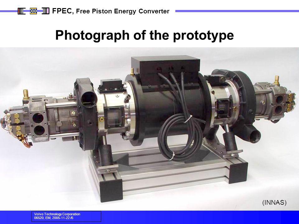 Volvo Technology Corporation 06520, EM, 2005-11-22 /6 FPEC, Free Piston Energy Converter Photograph of the prototype (INNAS)